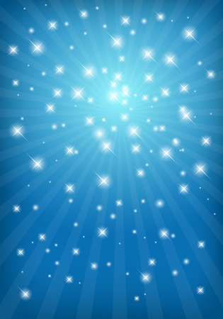 glowing star: Abstract shiny background with light rays and stars Illustration