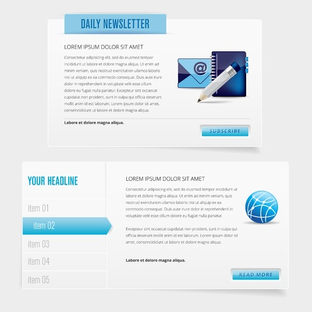 Modern web design elements - vector file Vector