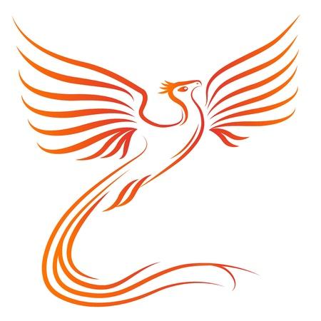 フェニックス鳥シルエット