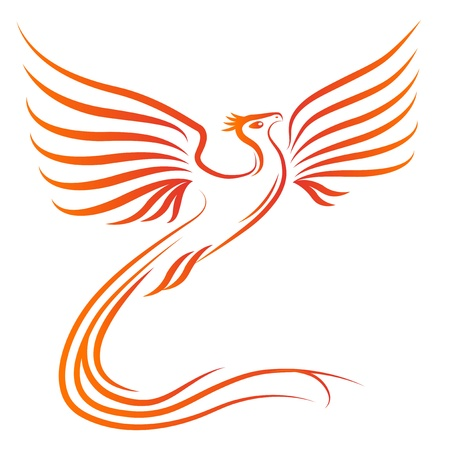 ave fenix: Phoenix silueta de las aves