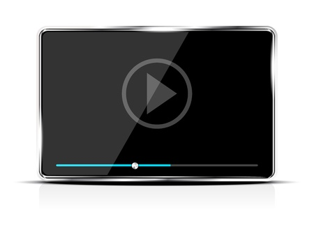 Abstract audio video player device Vector