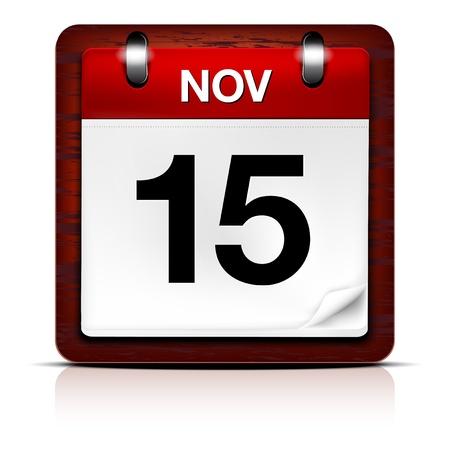 calendario diciembre: Calendario vector icono Vectores