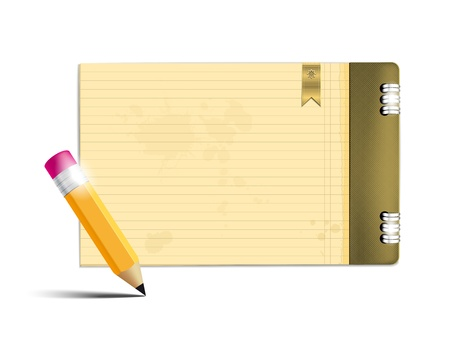 Copybook and pencil - place for your text  Vector file  Vector