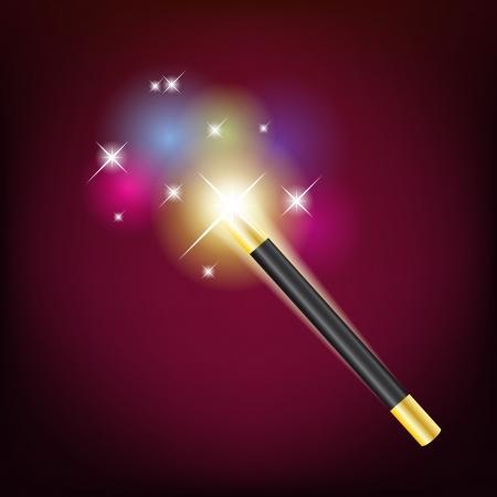 magic trick: Magic wand Illustration