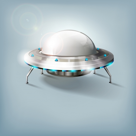 Unidentified flying object - UFO - vector file Ilustrace