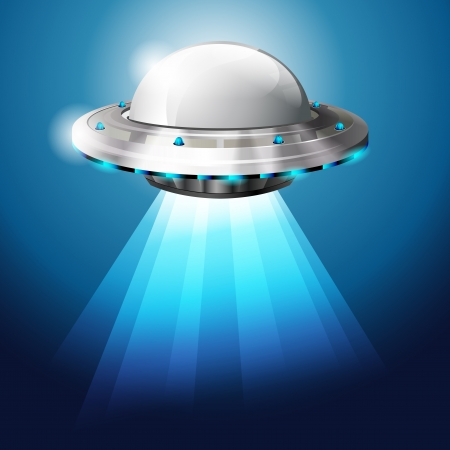 ship sky: Unidentified flying object - UFO - vector file Illustration