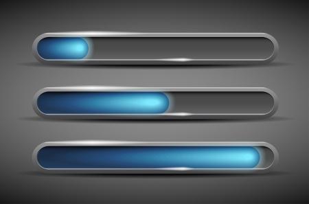 Modern glossy loading bars - vector file Stock Vector - 15076316