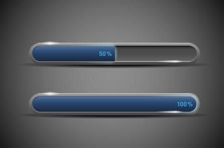 Modern glossy loading bars - vector file Ilustracja