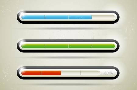 Modern glossy loading bars - vector file Stock Vector - 15076314