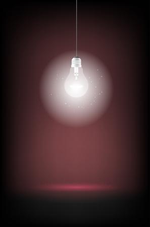 shining light: Brillante bombilla - el lugar de texto