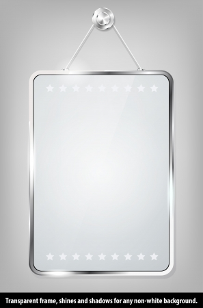 Transparent glass frame for your message Vector