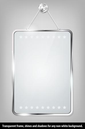 Marco de cristal transparente para su mensaje