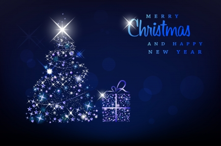 Merry Christmas and Happy New Year background