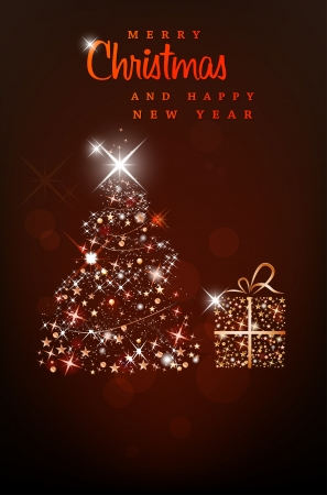 Merry Christmas and Happy New Year background Stock Vector - 16038418