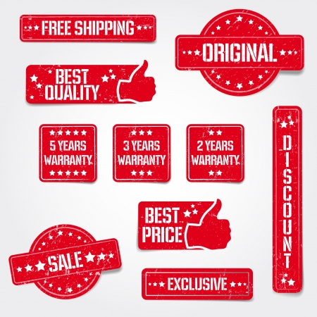 best price: Set of vector grungy stamps - best quality, warranty, sale etc