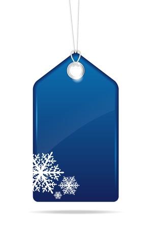 Blue christmas price tag - vector file Reklamní fotografie - 16123002