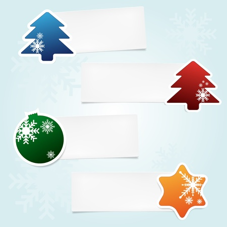 stickies: Set of christmas stickies with place for your text
