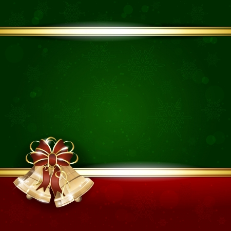 Background with Christmas bells - place for your text Stock Vector - 16345447