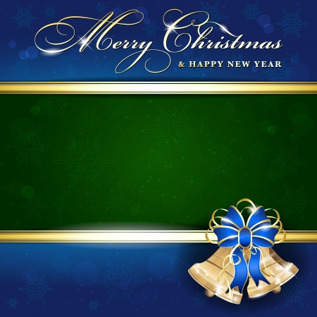 Background with Christmas bells - place for your text Vector