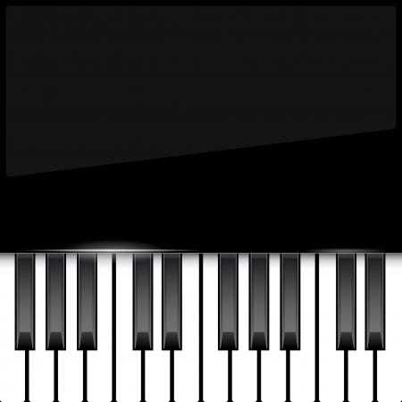 Abstract piano background with place for your text