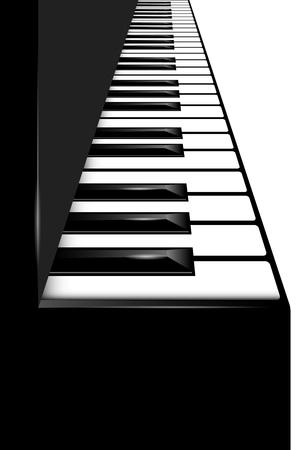 symphonic: Vector piano keyboard