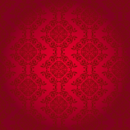 Vintage ornament on red background Stock Vector - 16448216