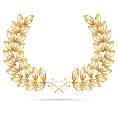 laurel leaf: Gold wreath for the winner