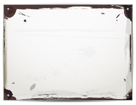 Rusty metal board - place for your message Stock Photo - 16732724
