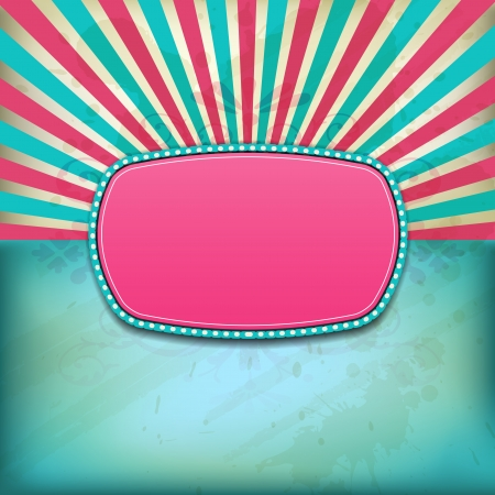 Retro vintage grungy background with frame for your text Stock Vector - 16915678