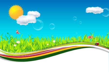 Nature spring summer background - place for text Stock Vector - 17047518