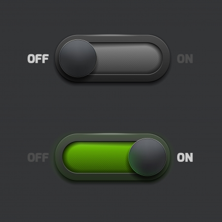 ON-OFF switch web buttons Vector