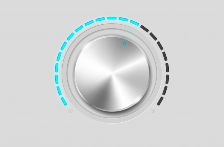 Metal volume knob