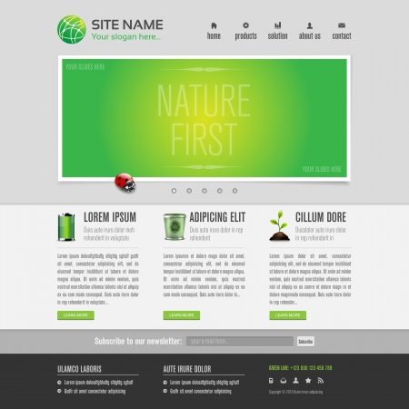 Green eco website template Vector