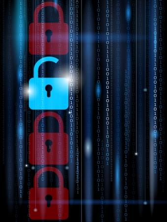 Computer astratto sfondo - concetto di sicurezza