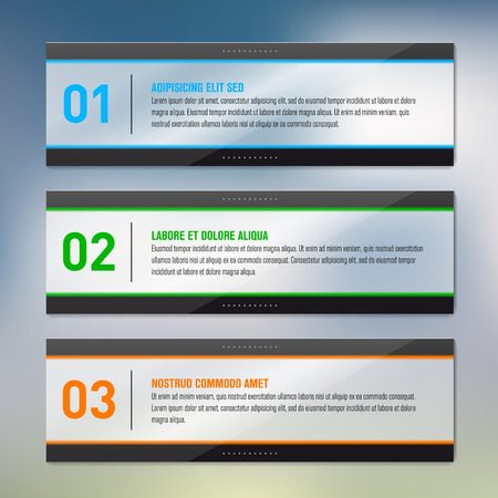 Glossy frames - infographics - place for your text  Vector illustration  Vector