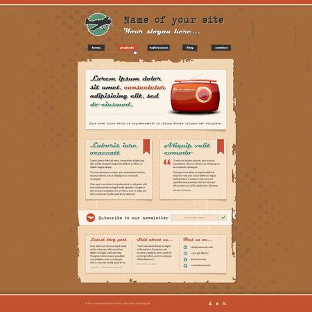 page site: Website template in retro design