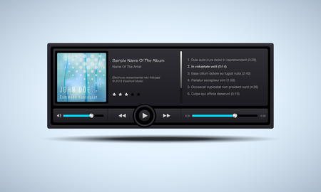 Audio player interface - vector illustration Vector