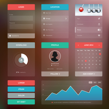 Flat design graphic user interface concept - vector illustration Illustration