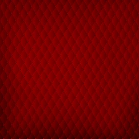acolchado: Fondo rojo abstracto en estilo barroco acolchado - ilustraci�n vectorial