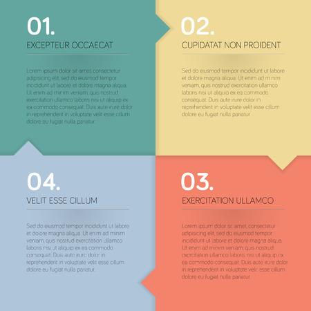 cranny: Modern design template for info graphics - vector illustration