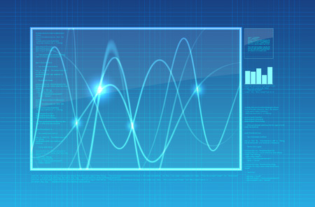 oscilloscope: Estratto oscilloscopio sfondo - illustrazione
