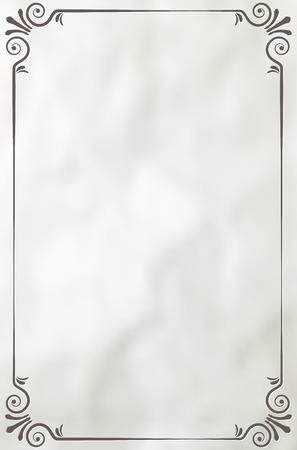 ročník: Vintage rám na papírové pozadí - místo pro váš text. Vektorové ilustrace. Ilustrace