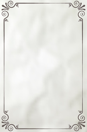 Vintage-Rahmen auf dem Papier Hintergrund - Platz für Ihren Text. Vektor-Illustration. Illustration
