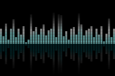 hifi: Abstract equalizer on black - music or technical background. Vector illustration.