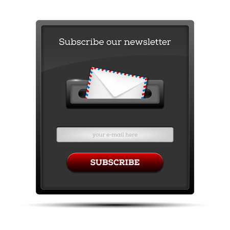 subscribe: Subscribe our newsletter - website form. Vector illustration.