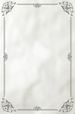 Vintage decorative frame on paper background - place for your text. Vector illustration.
