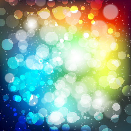 shiny background: Abstract background with blur lights and shiny stars - vector illustration Illustration