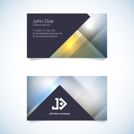 elegant template: Elegant modern business card template - vector illustration