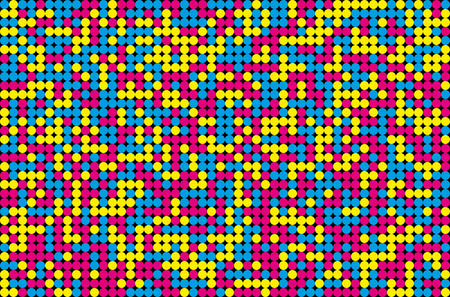 Abstract mosaic background from CMYK colors - print concept. Vector illustration.