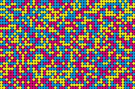 Fondo abstracto del mosaico de colores CMYK - concepto de impresión. Ilustración del vector.